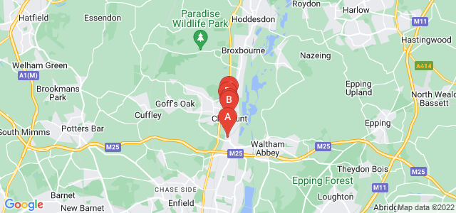 Google static map for Waltham Cross