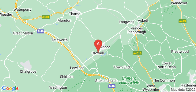 Google static map for Chinnor