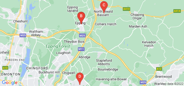 Google static map for Epping