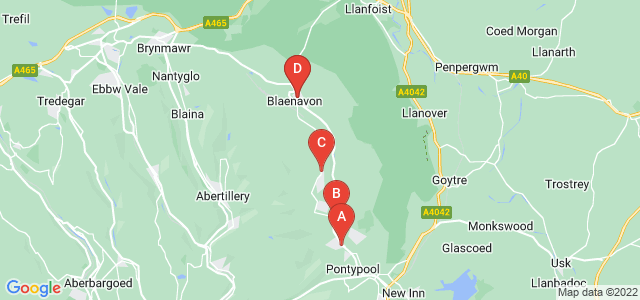 Google static map for Pontypool