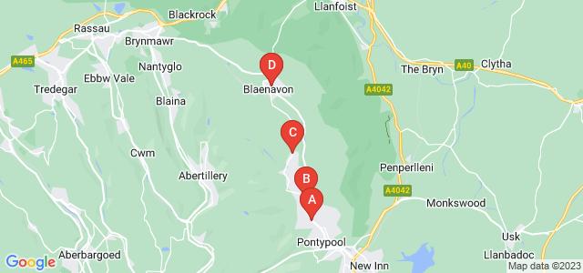 Google static map for Pontypool