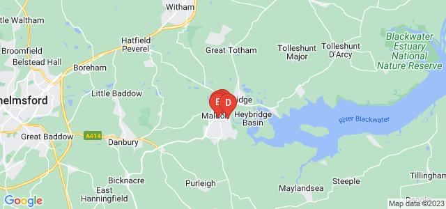 Google static map for Maldon
