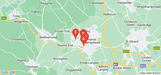 Google static map for Hemel Hempstead