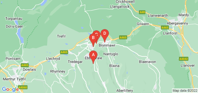 Google static map for Ebbw Vale