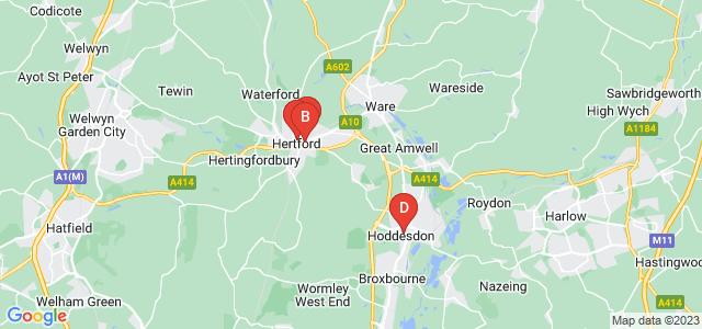 Google static map for Hertford
