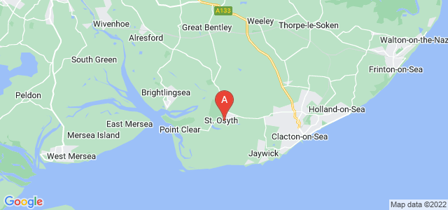 Google static map for St Osyth
