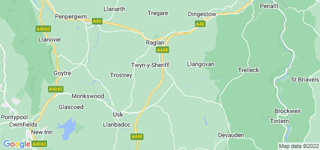 Google static map for Monmouthshire