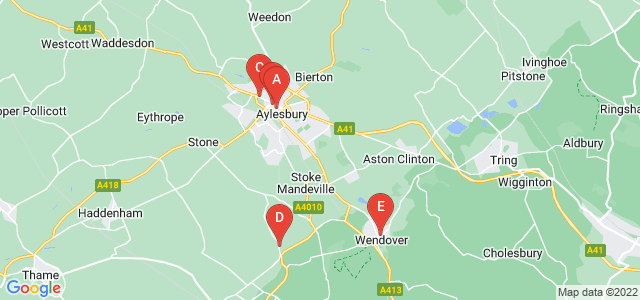Google static map for Aylesbury