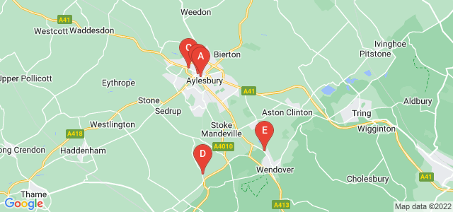 Google static map for Buckinghamshire
