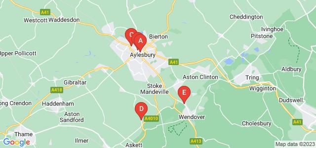 Google static map for Buckinghamshire