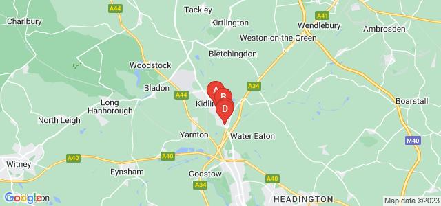 Google static map for Kidlington