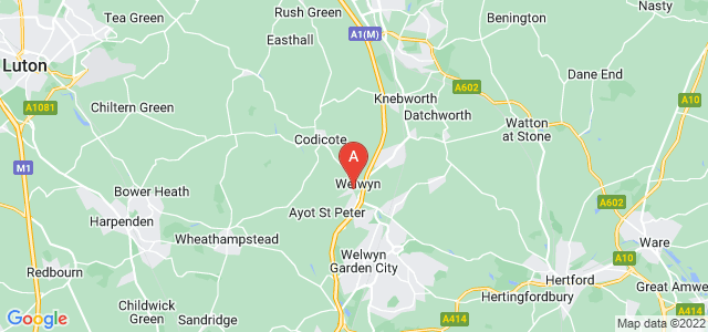 Google static map for Welwyn