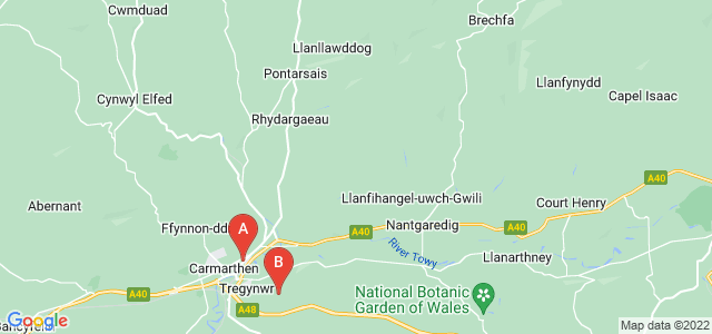 Google static map for Carmarthenshire