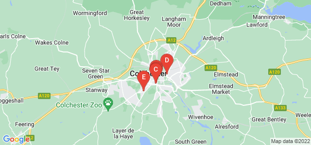 Google static map for Colchester
