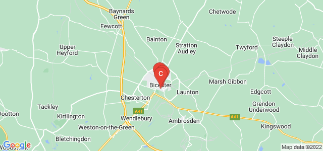 Google static map for Bicester