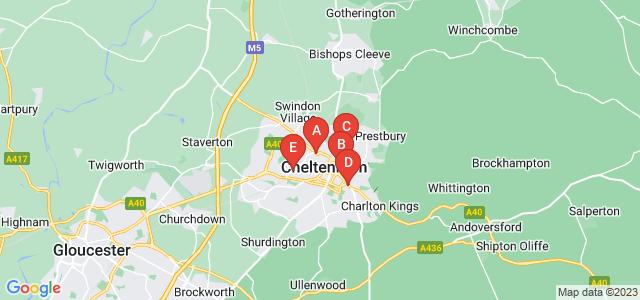 Google static map for Cheltenham