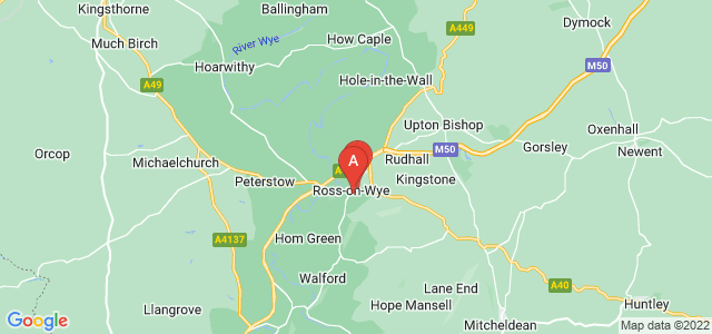 Google static map for Ross On Wye