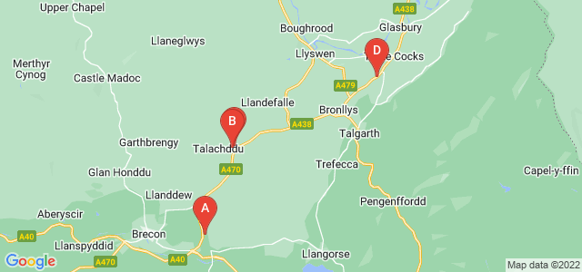 Google static map for Brecon