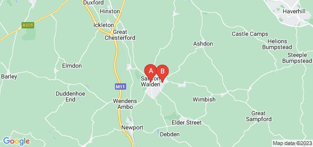 Google static map for Saffron Walden