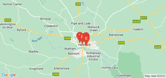 Google static map for Herefordshire