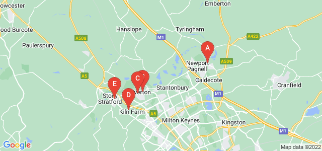Google static map for Milton Keynes
