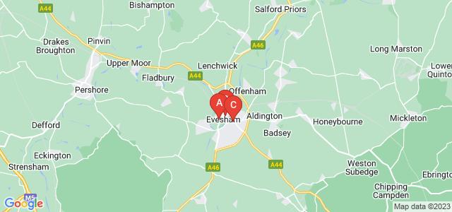 Google static map for Evesham