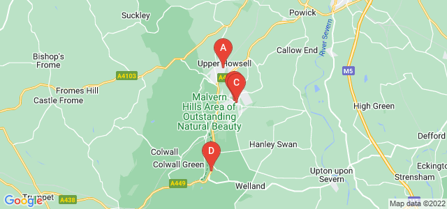 Google static map for Malvern