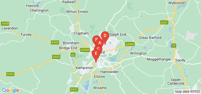 Google static map for Bedford