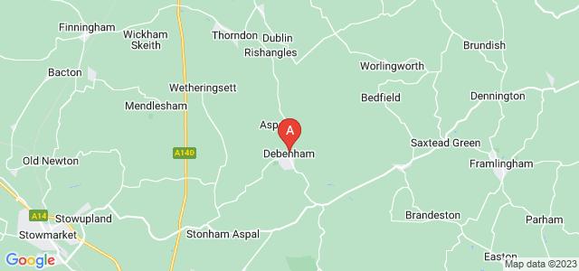 Google static map for Debenham