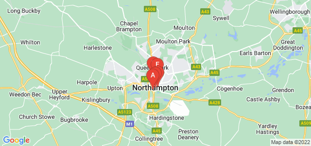Google static map for Northampton