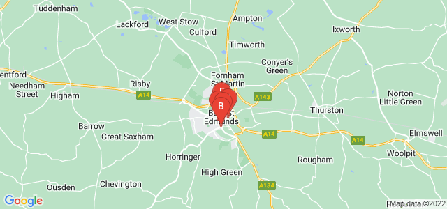 Google static map for Bury Saint Edmunds
