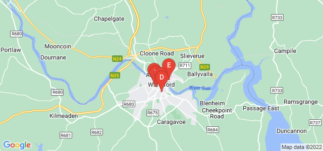 Google static map for Waterford