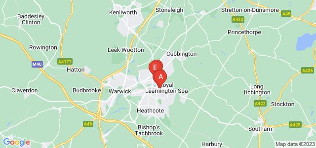 Google static map for Warwickshire