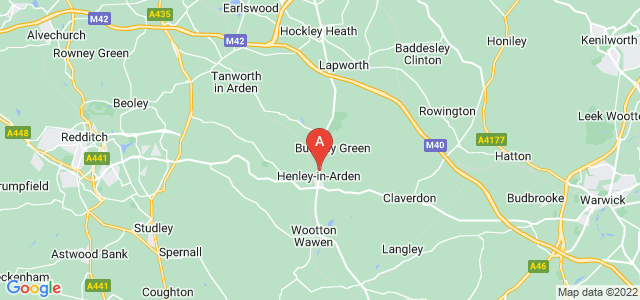 Google static map for Henley In Arden