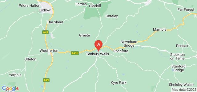 Google static map for Tenbury Wells