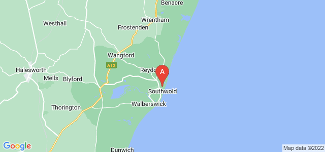 Google static map for Southwold