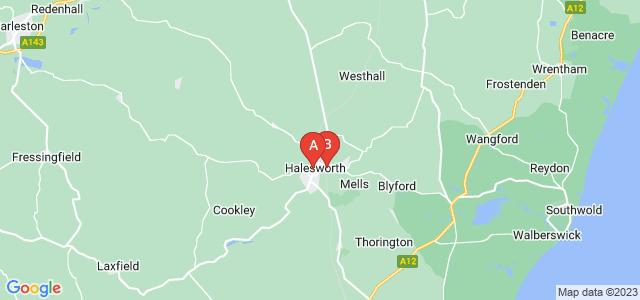 Google static map for Halesworth