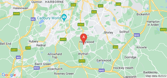 Google static map for Wythall