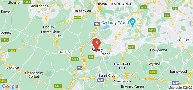 Google static map for Rubery