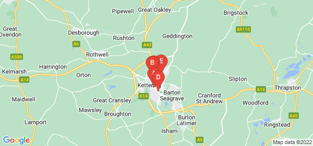 Google static map for Kettering