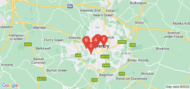 Google static map for Coventry