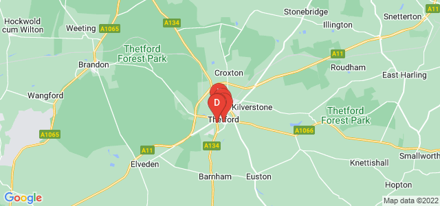 Google static map for Thetford