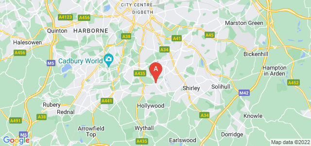 Google static map for Yardley Wood