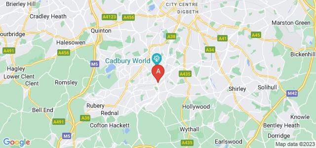 Google static map for Cotteridge