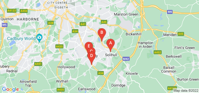 Google static map for Solihull