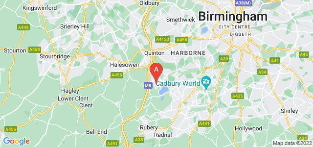 Google static map for Bartley Green