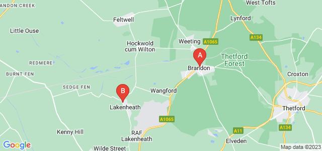 Google static map for Brandon