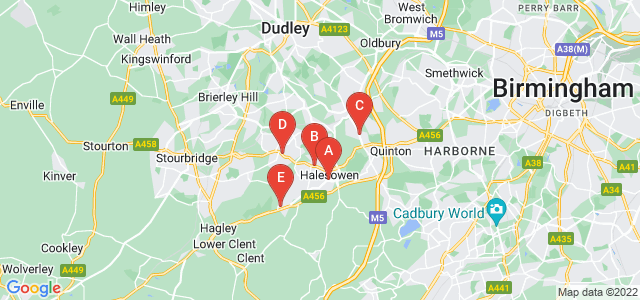 Google static map for Halesowen