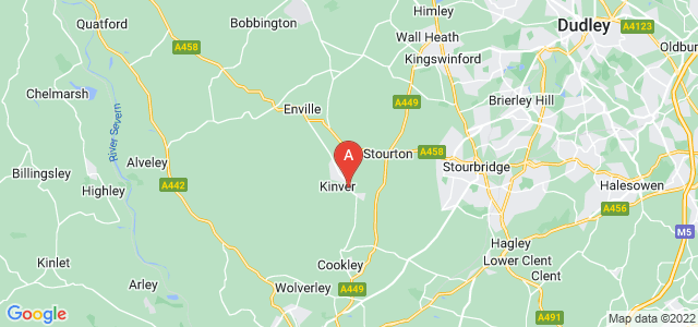 Google static map for Stourbridge