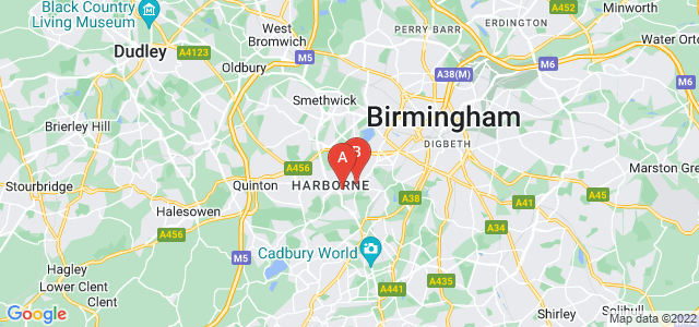 Google static map for Harborne